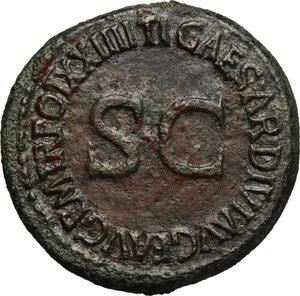 reverse: Tiberius (14-37 AD).. AE Dupondius, 22-23