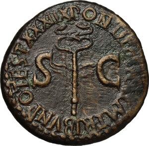 reverse: Tiberius (14-37).. AE As, 36-37