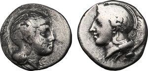 obverse: Northern Lucania, Velia. Lot of 2 AR Staters, 340-334 BC