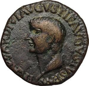 obverse: Tiberius (14-37).. AE As, Spain, Carthago mint, 23-29