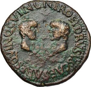 reverse: Tiberius (14-37).. AE As, Spain, Carthago mint, 23-29
