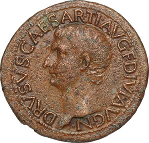 obverse: Drusus (died 23 AD).. AE As, Rome mint, 21-22 AD