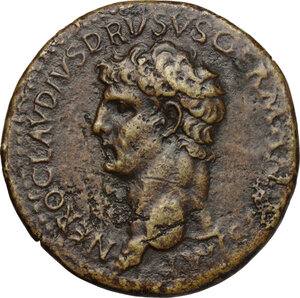 obverse: Nero Claudius Drusus (died 9 AD).. AE Sestertius, 41-50