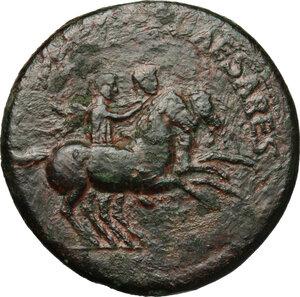 obverse: Nero and Drusus Caesar (died 31 and 33 AD respectively).. AE Dupondius, struck under Caligula, 39-40