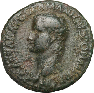 obverse: Caligula (37-41).. AE As, 37-38