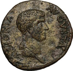 obverse: Antonia Minor, mother of Claudius (Augusta 37 and 41).. AE Dupondius, 41-50