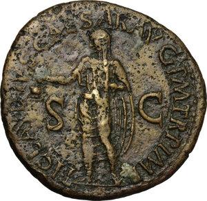 reverse: Antonia Minor, mother of Claudius (Augusta 37 and 41).. AE Dupondius, 41-50