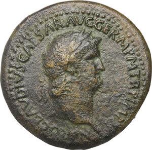 obverse: Nero (54-68).. AE Sestertius, 62-68