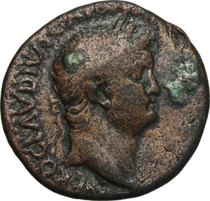 obverse: Nero (54-68).. AE As, Thrace, Perinthuns mint