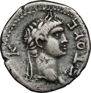 obverse: Nero (54-68) with Polemo II, king of Pontos (38-64).. AR Drachm, Pontus, 57-58