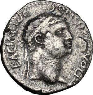 reverse: Nero (54-68) with Polemo II, king of Pontos (38-64).. AR Drachm, Pontus, 57-58