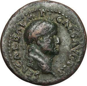 obverse: Galba (68-69).. AE Dupondius