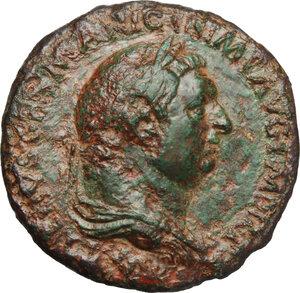 obverse: Vitellius (69 AD).. AE Sestertius, 69 AD