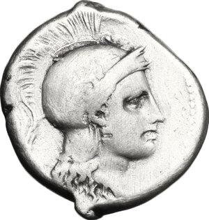 obverse: Northern Lucania, Velia. AR Didrachm, period VII, ca. 300 - ca. 280 BC