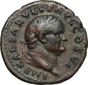 obverse: Vespasian (69-79).. AE As, 75 AD