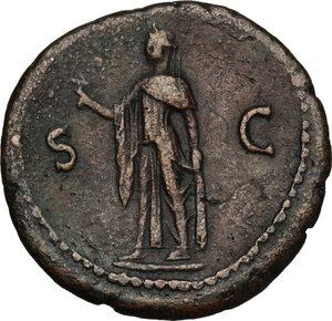 reverse: Vespasian (69-79).. AE As, 75 AD
