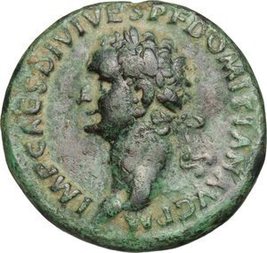 obverse: Domitian (81-96).. AE As, 81 AD