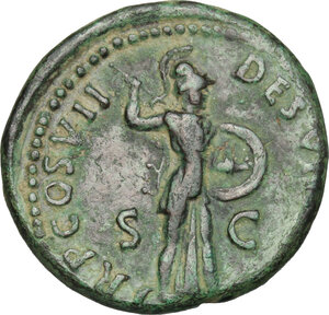 reverse: Domitian (81-96).. AE As, 81 AD