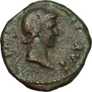 obverse: Domitian (81-96).. AE Quadrans, 81-82