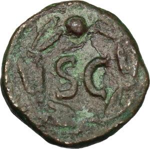 reverse: Domitian (81-96).. AE Quadrans, 81-82