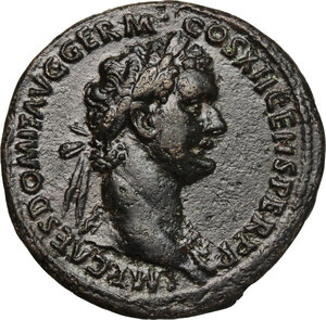 obverse: Domitian (81-96).. AE As, 86 AD