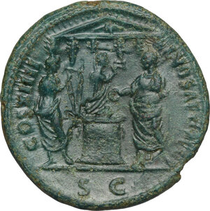 reverse: Domitian (81-96).. AE As, 88 AD