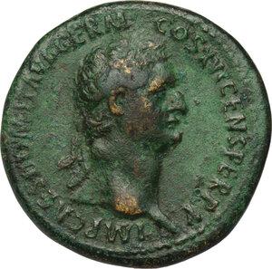 obverse: Domitian (81-96).. AE Sestertius, 90-91