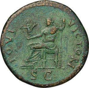reverse: Domitian (81-96).. AE Sestertius, 90-91