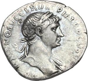 obverse: Trajan (98-117).. AR Denarius, Rome mint. Struck circa 112-113 AD