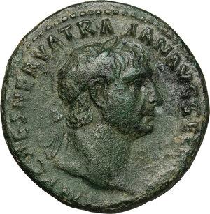 obverse: Trajan (98-117).. AE As, 99-100
