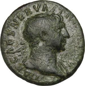 obverse: Trajan (98-117).. AE Semis, 114-117