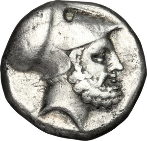 obverse: Southern Lucania, Metapontum. AR Stater, 340-330 BC