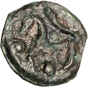 reverse: Northwest Gaul, Senones. Potin Unit. Circa 100-50 BC