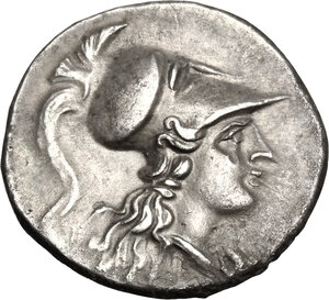 obverse: Southern Lucania, Metapontum. AR Half Shekel, Hannibalic issue 215-207 BC