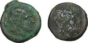 obverse: Bruttium, The Brettii. Lot of 2 AE Units: including: HN Italy 1978 and 1988