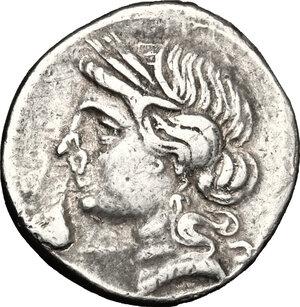 obverse: Bruttium, Carthaginians in South-West Italy. AR Half Shekel, 216-211 BC