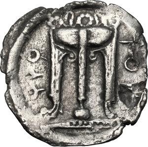 obverse: Bruttium, Kroton. AR Drachm, 530-500 BC