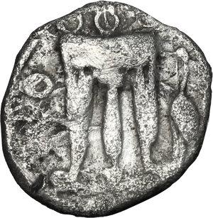 obverse: Bruttium, Kroton. AR Triobol, 525-425 BC