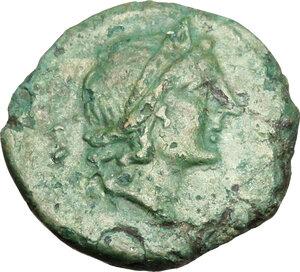 obverse: Bruttium, Vibo Valentia. AΕ Semis. 2nd century BC