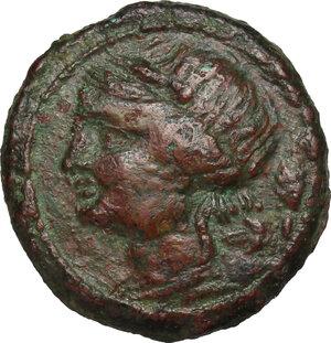 obverse: Bruttium, Locri. AE 19 mm, 300-270 BC