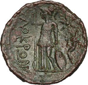 reverse: Bruttium, Locri. AE 19 mm, 300-270 BC