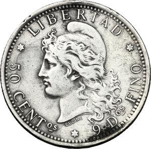 obverse: Argentina. AR 50 Centavos, 1882