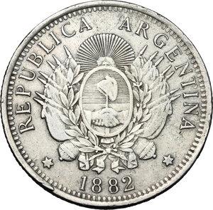 reverse: Argentina. AR 50 Centavos, 1882