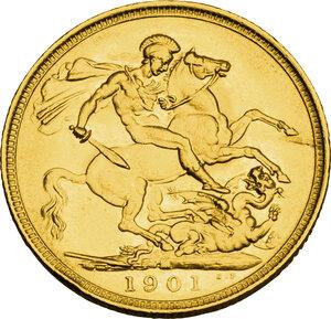 reverse: Australia.  Victoria (1837-1901). AV Sovereign 1901, Melbourne mint
