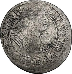 obverse: Austria.  Leopold I (1657-1705).. AR 3 Kreuzer 1671 SHS, Silesia, Breslau mint