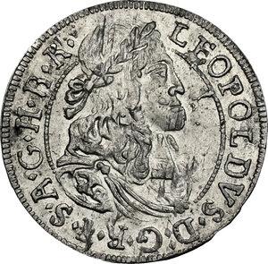 obverse: Austria.  Leopold I (1657-1705).. AR 3 Kreuzer 1684, Hall in Tirol mint
