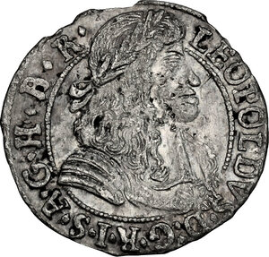 obverse: Austria.  Leopold I (1657-1705).. AR 3 Kreuzer 1685, Hall in Tirol mint