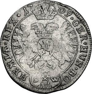 reverse: Austria.  Joseph I (1705-1711).. AR 3 Kreuzer 1709, Kuttenberg (Kutna Hora) mint