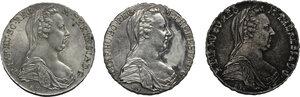 obverse: Austria.  Maria Theresia (1740-1780).. Lot of 3 AR Thaler (SF) 1780