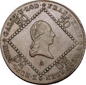 obverse: Austria.  Franz II/I (1792-1805-1835).. AE 30 Kreuzer 1807, Vienna